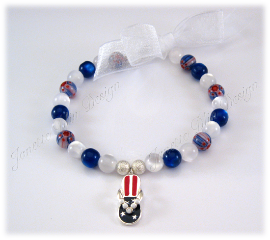 Fourth of July Necklace - Janette Dlin Design - Dog Necklace