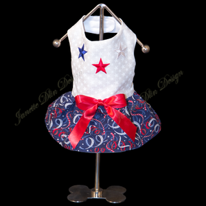 Fourth of July Dress - Janette Dlin Design - Dog Dress