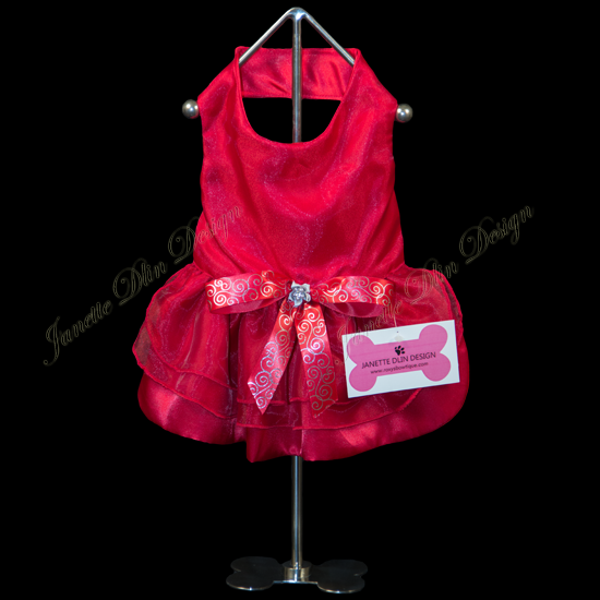 Forever Red Dress - Janette Dlin Design - Dog Dress
