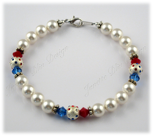 Patriotic Colors Necklace - Janette Dlin Design - Dog Necklace