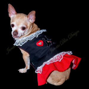 Red Heart Dog Top - Janette Dlin Design