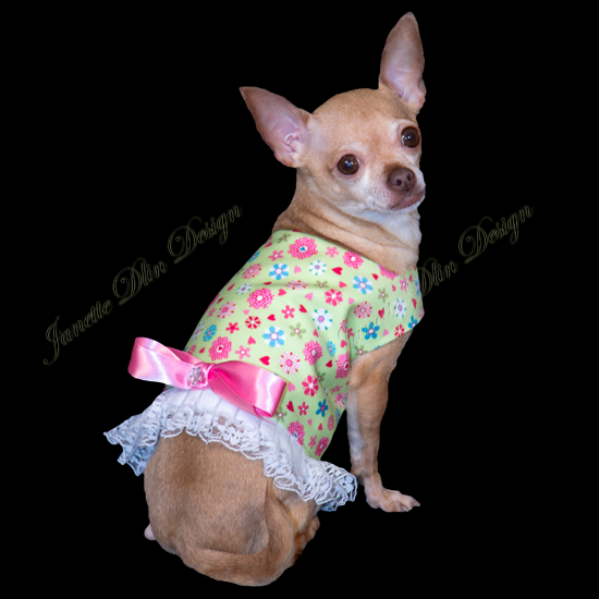 Spring Blooms Top - Janette Dlin Design - Dog Dress