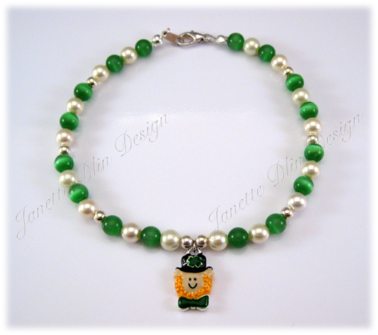 St. Patrick's Necklace - Janette Dlin Design - Dog Necklace