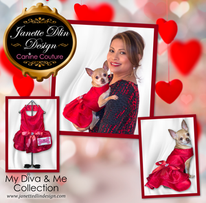 Forever Red Dress - Janette Dlin Design - Valentine Dog Dress