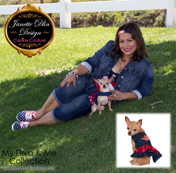 Love USA Dress - Janette Dlin Design - Dog Dress