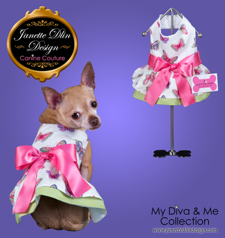 Butterfly Breeze Dress -Janette Dlin Design - Dog Dress