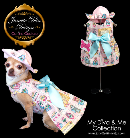 Easter Girl Dress  - Janette Dlin Design - Dog Dress