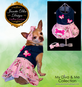 Spring Bloom Dress  - Janette Dlin Design - Dog Dress
