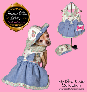 Easter Diva Dress - Janette Dlin Design - Dog Dress