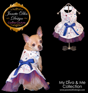 Patriotic Colors Dress - Janette Dlin Design - Dog Dress
