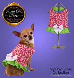 Pink Dragonfly Top  - Janette Dlin Design - Dog Dress