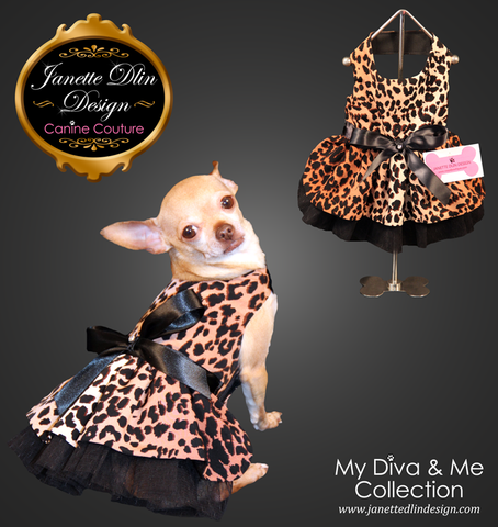 Safari Girl: Leopard Dress - Janette Dlin Design - Dog Dress