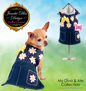 Spring Daisies Dress - Janette Dlin Design - Dog Dress