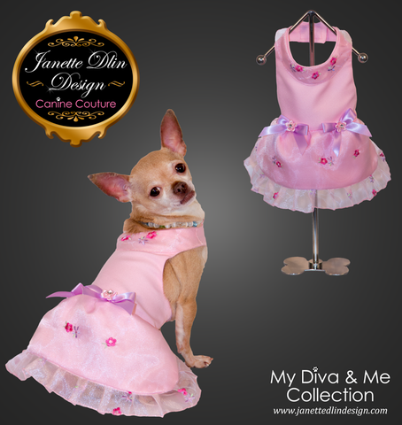 Spring Flower Dress  - Janette Dlin Design - Dog Dress