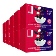 Assorted Chocolate Coated Raisins in a Snack Box X10 RJF Farhi