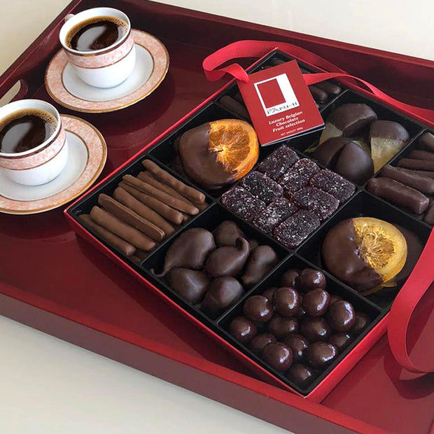 Belgian Chocolate Fruit Selection in a Nine-Way Gift Box RJF Farhi