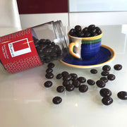 Dark Chocolate Coated Coffee Beans in a Gift Jar Rita Farhi