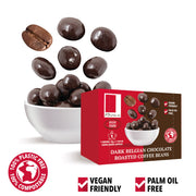 Dark Belgian Chocolate Roasted Coffee Beans in a Snack Box X 10 RJF Farhi