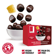 Plain Belgian Chocolate Covered Ginger in a Snack Box X 10 Rita Farhi