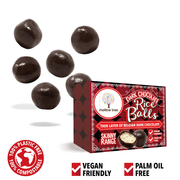Dark Belgian Chocolate Rice Balls in a Snack Box X 10 RJF Farhi