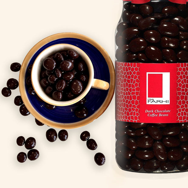 Plain Chocolate Coated Coffee Beans in a Gourmet Gift Jar Rita Farhi