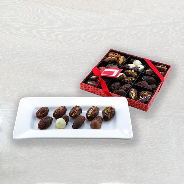Belgian Chocolate & Stuffed Medjool Date Selection in a Gift Box Rita Farhi
