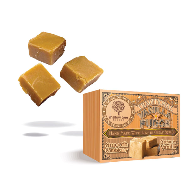Vegan Vanilla Flavoured Fudge in a Snack Box RJF Farhi