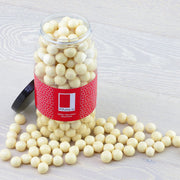 White Chocolate Coated Hazelnuts in a Gift Jar RJF Farhi