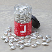 Silver Sugared Almonds in a Gift Jar RJF Farhi