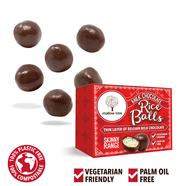 Milk Belgian Chocolate Rice Balls in a Snack Box X 10 RJF Farhi