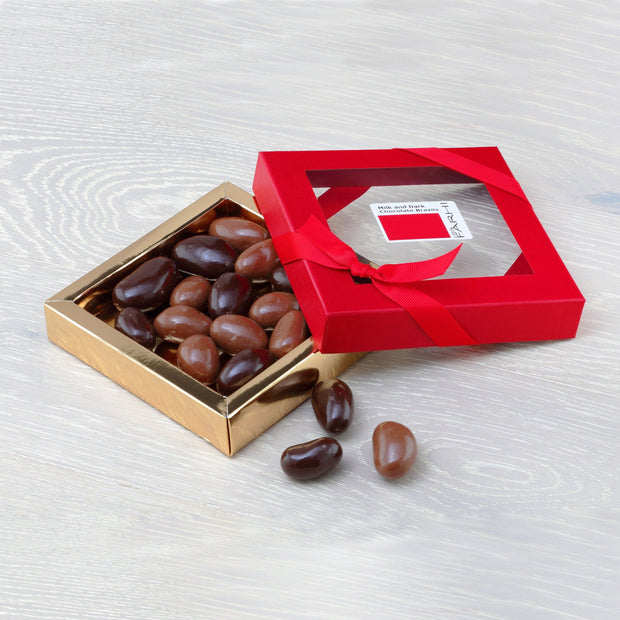 Farhi Milk and Dark Chocolate Coated Brazil Nuts in a Gift Box RJF Farhi