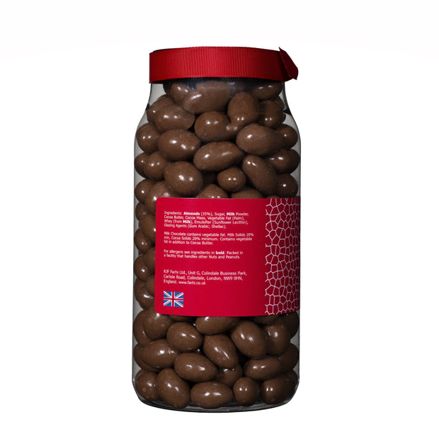 Farhi Milk Chocolate Coated Almonds in a Gift Jar (WRONG INGREDIENTS) RJF Farhi