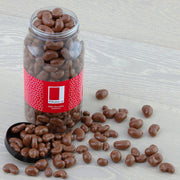 Milk Chocolate Coated Cashews in a Gourmet Gift Jar RJF Farhi