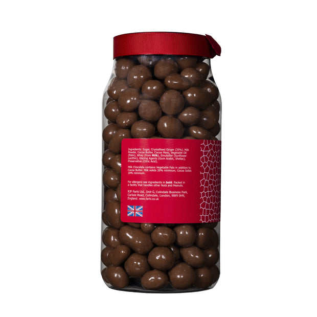 Farhi Milk Chocolate Covered Ginger in a Gift Jar Rita Farhi