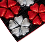 Rita Farhi Foiled Milk Chocolate Praline Hearts in a Gift Box