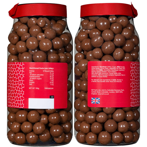 Rita Farhi Milk Chocolate Coated Hazelnuts in a Gift Jar