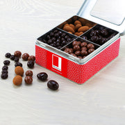 Fruit and Nut Selection Coated in Belgian Chocolate in a Gift Tin RJF Farhi