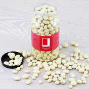 White Chocolate Coated Raisins in a Gourmet Gift Jar RJF Farhi
