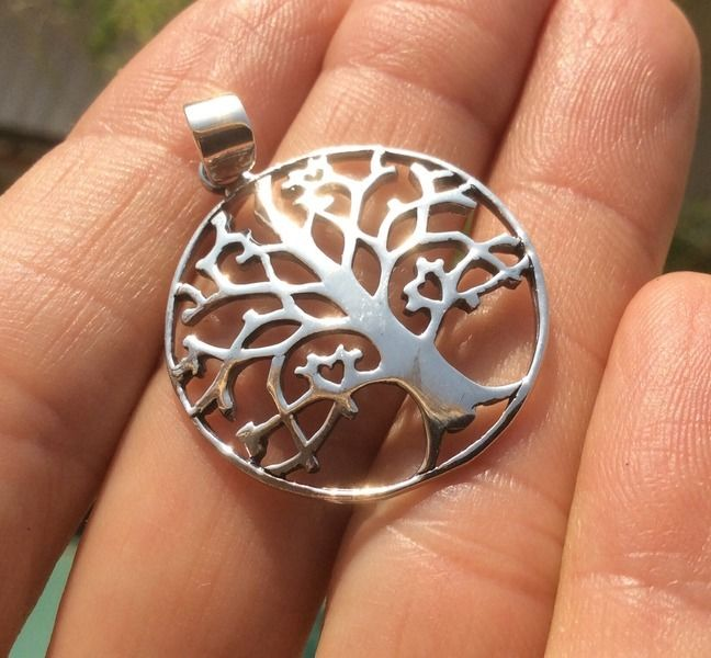 925 Silver tree of life pendant necklace Thailand jewelry art