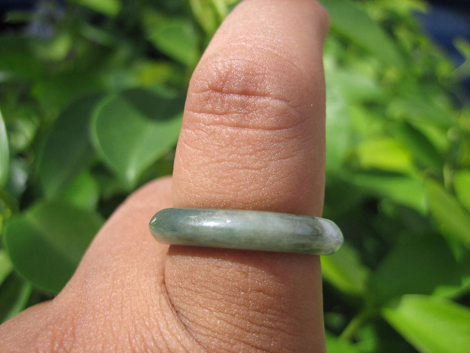Natural Jadeite Jade Ring Thailand Size 9.5 USA2855