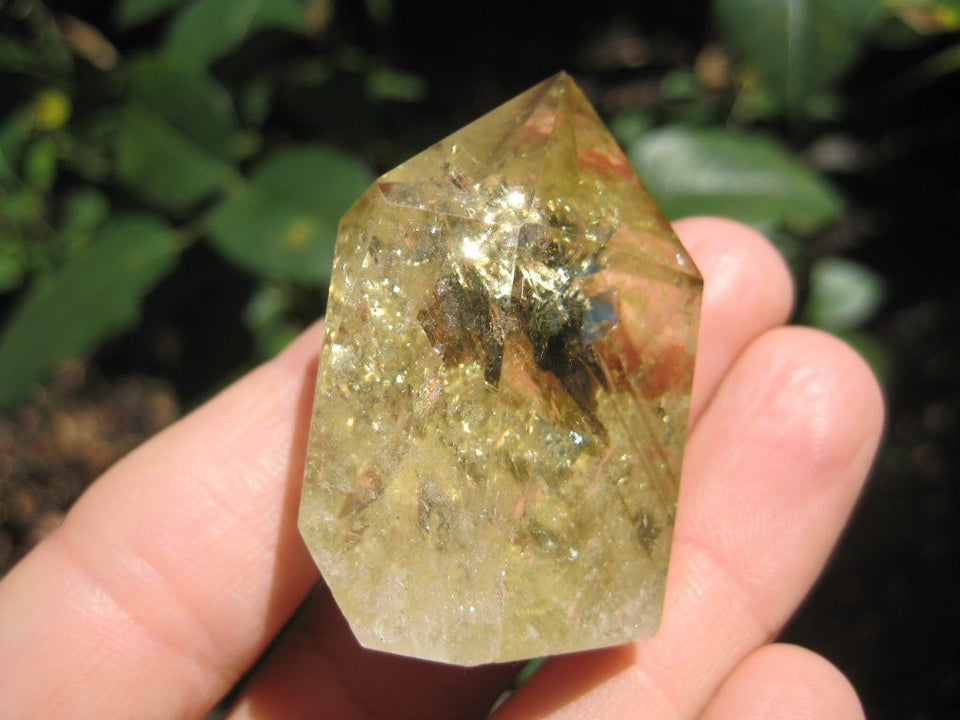 Citrine Quartz crystal point mineral  specimen stone art A35