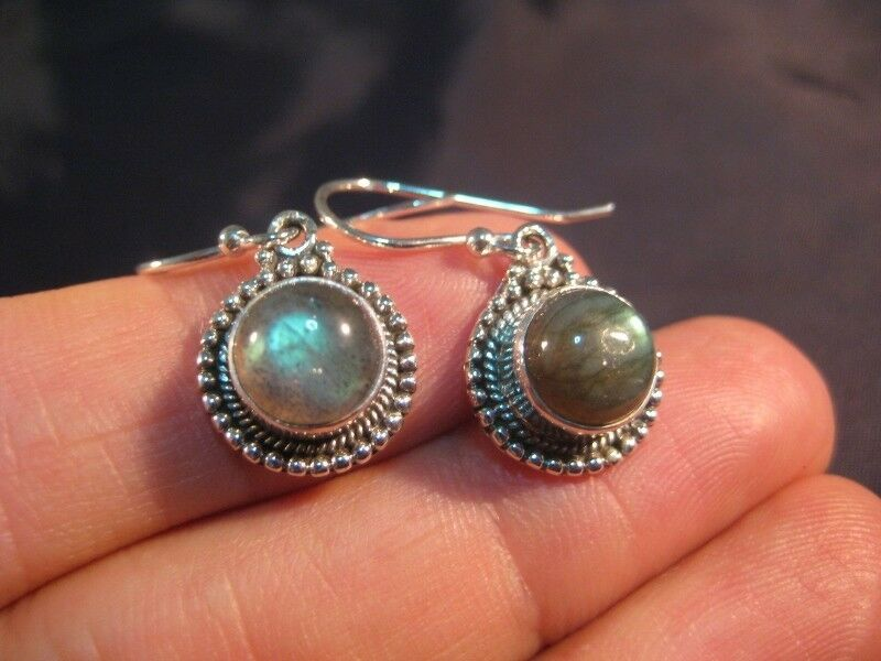 925 Silver Labradorite stone crystal stone earrings N69778