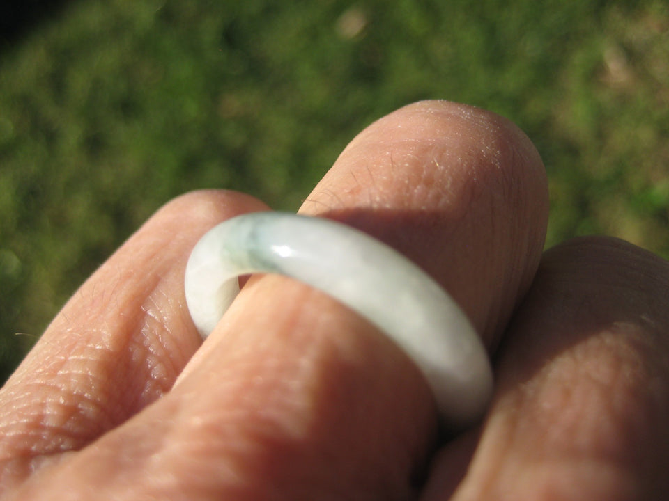 Natural Jadeite Jade Ring Myanmar Size 7.5 US A2698