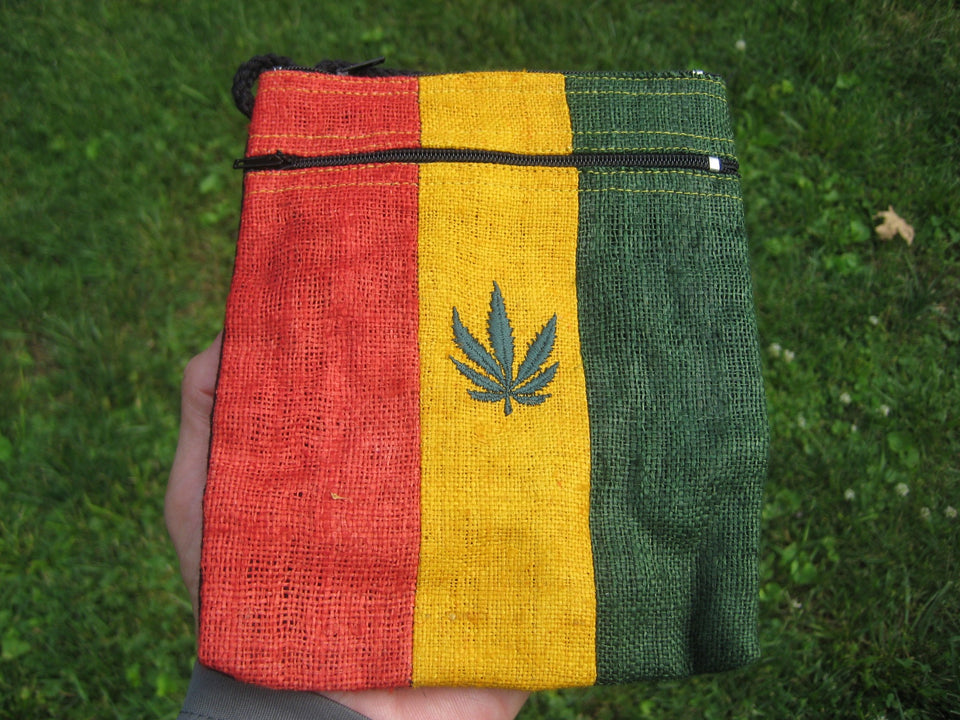 Hemp Rasta Hand Bag Purse Ganja Marijuana Leaf Thailand A4665
