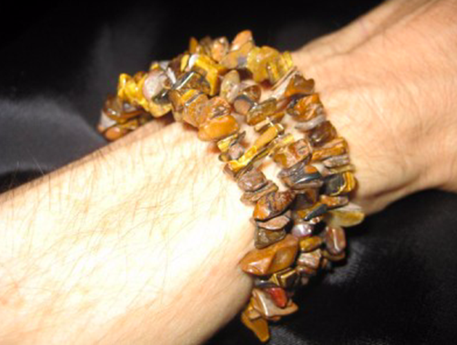 Tiger Eye Chip bead bracelet natural stone jewelry A3644
