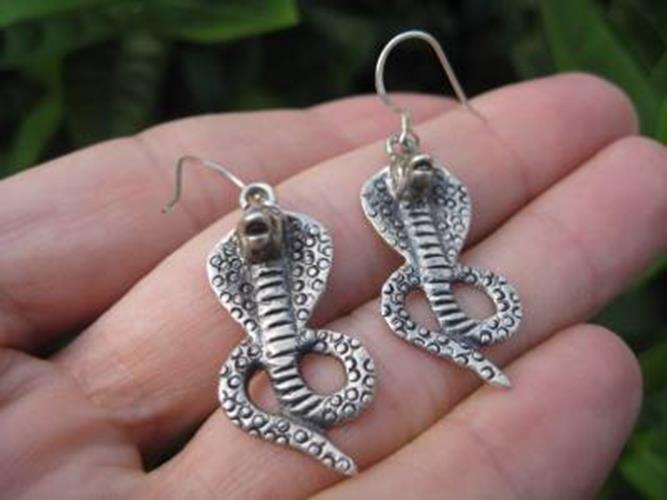 925 Silver Snake cobra Earrings Earring jewelry Nepal N4755