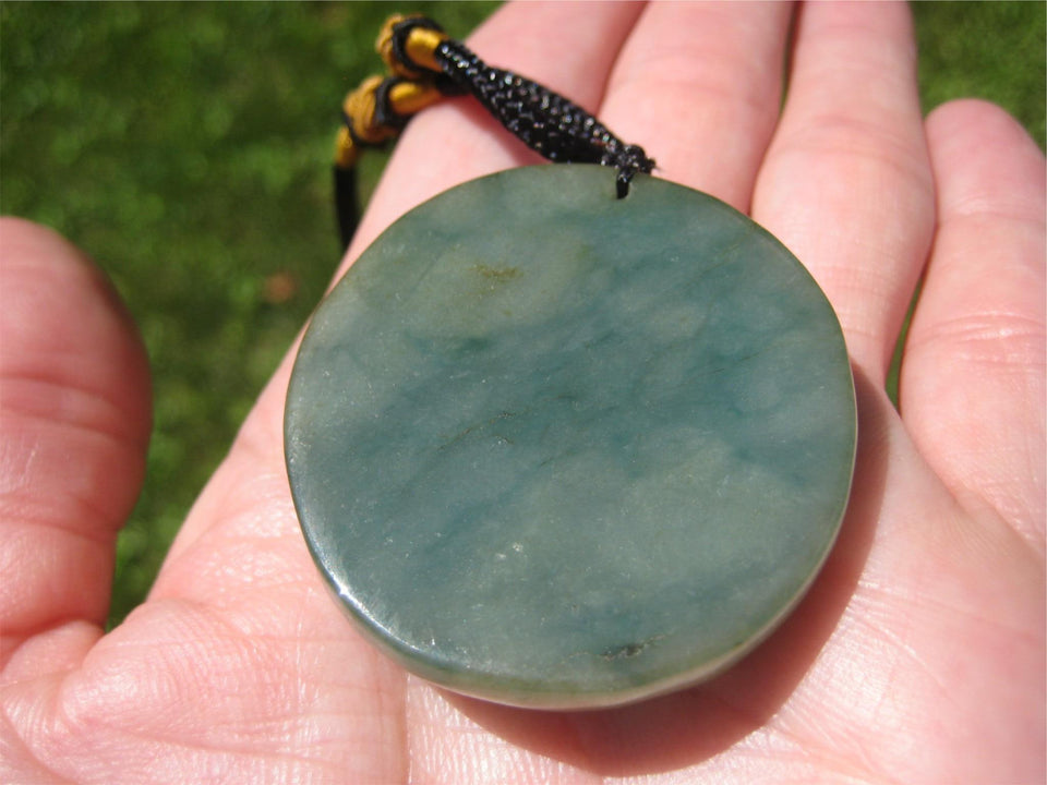 Natural Jadeite Jade Happy Buddha Pendant necklace A296