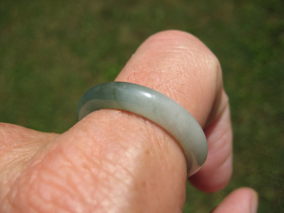 Natural Jadeite Jade Ring Northern Stone Mineral Size 10.5 US A926