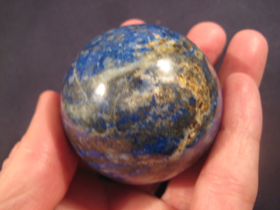 "Natural 2"" Lapis Lazul Lazuli Crystal Stone ball carving Mineral Statue art A9"