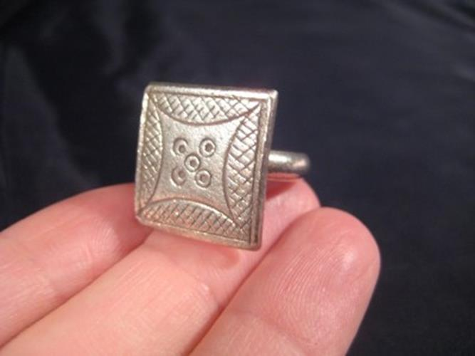 999 Silver Hill Tribe Ring northern Thailand jewelry art size 9  N 2866